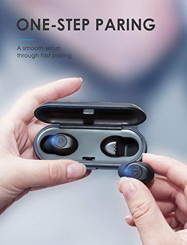 L LINPA WORLD T1 Wireless Earbuds, True Wireless Bluetooth Earbuds with Portable Charging Case,15Hrs Playtime HD stereo sound wireless headphones Built-in Mic