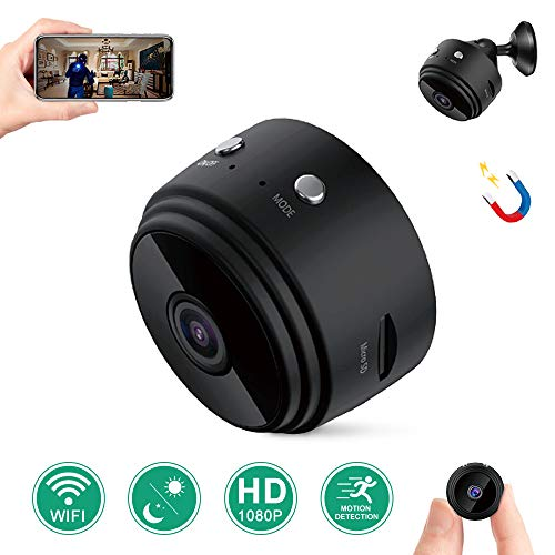 [Latest] Spy Camera Wireless Hidden Cameras Mini WiFi Cam, LaoSei HD 1080P Home Security Nanny Cam Indoor Outdoor Video Recorder with Remote View/Night Vision/Motion Activated for iPhone (Black)
