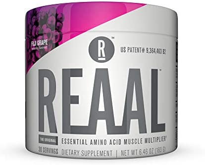 REAAL – REAAL Fuji Grape Powder, Helps Build, Restore, and Maintain Lean Muscle with Essential Amino Acids, Gluten Free, Bloat Free, Lactose Free, Caffeine Free, Vegan, 30 Servings 6.77 Oz