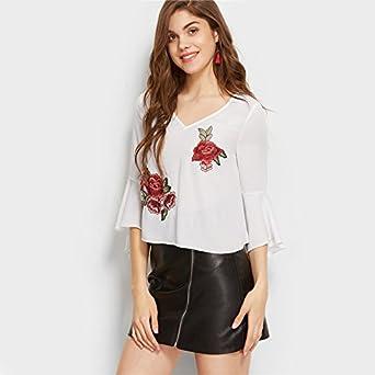 Blusas De Mujer De Moda 2018 Sexy Ropa Para Mujer Elegante Casuales at Amazon Womens Clothing store: