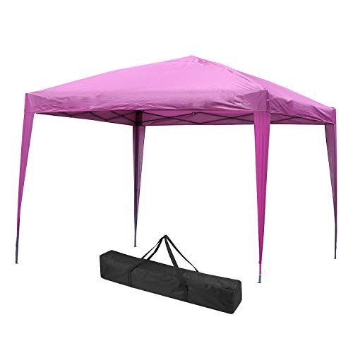 Outdoor Basic Pop up Canopy Tent 10 x 10 Instant Shelter with Carry Bag Pink