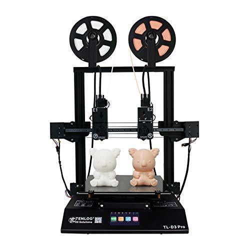 TENLOG TL-D3 Pro Independent Dual Extruder 3D Printer, 300 Degree High Temperature Nozzle,Silent Mainboards TMC2208…