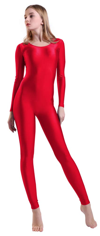 Kepblom Women's Long Sleeve Scoop Neck Unitard Spandex Bodysuit for Dance Gymnastic Costume by Kepblom