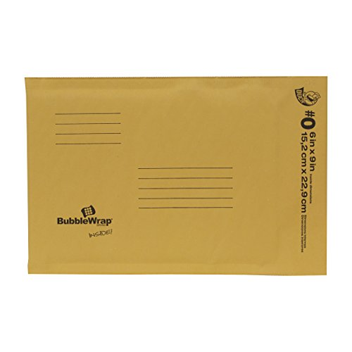 Duck Brand Kraft Bubble Mailers, #0 - 6 x 9 Inches, 25-Pack (394483)