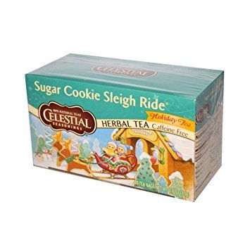 - Celestial Seasonings Sugar Cookie Sleigh Ride Tea Bags, 20 ct