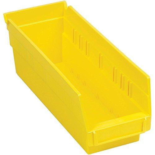 4 1/8 Divider Bin - Nestable Shelf Bin, Plastic, 4-1/8