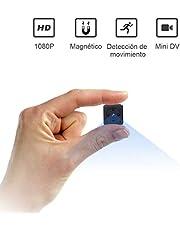 ZZCP Mini Camara Espia Oculta Videocámara 1080P HD Portátil Camaras de Seguridad Secreta con Detección de Movimiento IR Vision Nocturna, Camaras de Vigilancia pequeña Interiores/Exteriores