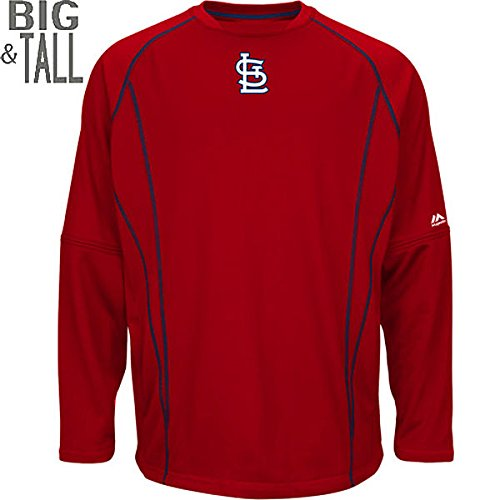 - Majestic St. Louis Cardinals MLB Men's Therma Base On-Field Practice Pullover Fleece - Red (6XL)