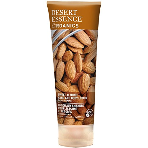 Desert Essence Hand and Body Lotion Almond, 8 ounce