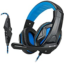 (REFURBISHED) ENHANCE GX-H2 Computer Gaming Headset with Noise Isolating Ear Pads, Adjustable Mic, and Volume Control with Mute Button League of Legends, PUBG and More PC Games