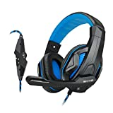 ENHANCE GX-H2 Computer Gaming Headset with Noise Isolating Ear Pads , Adjustable Mic , and Volume Control for Dota 2 , League of Legends , World of Warcraft: Legion , Battlefield 1 and More PC Games