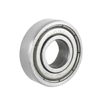 Uxcell a12111600ux0472 9mm x 5mm x 3mm Silver Tone Sealed Deep Groove Roller Bearings 0.2 Metal