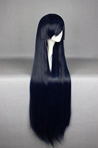 105cm Women Straight Long Wig Akame ga Kill Cosplay Party Hair Wigs Dark Blue