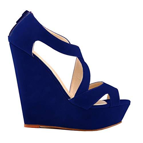 5 Ni391 Femme Renly Danse de Salon Bleu 10SUEDE Bleu 36 Xvzwqxrzd