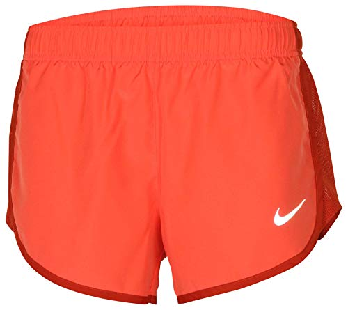NIKE Women's Dry High Cut Tempo Running Shorts (Rush Coral, Small)