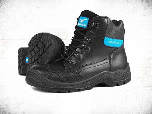 glenwear schwarz Farnell Sicherheit Hiker Stiefel Größe 12