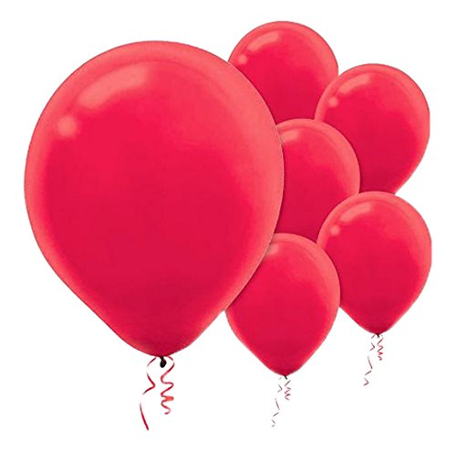 Solid Color Latex Balloons | Apple Red | Pack of 72 | Party Decor