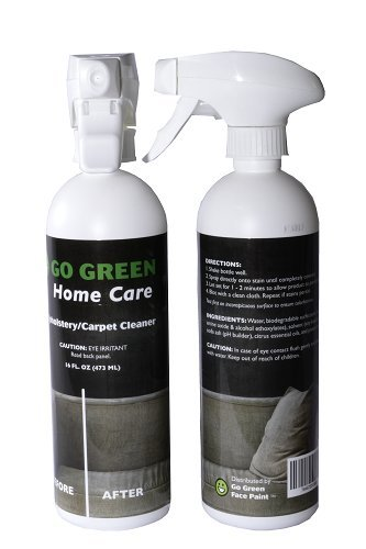 Go Green Upholstery/Carpet Cleaner - The Best Organic 3 in 1 Cleans Eliminates Odor and Protects, Unleash The Power of Citrus on All of Your Stains Gets Out ...