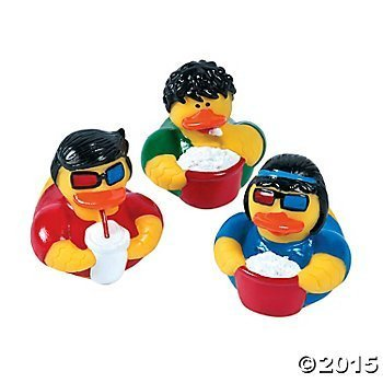 Movie Night Rubber Ducks pcs