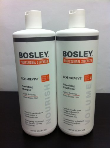 Bosley Revive Shampoo & Conditioner for Visibly Thinning Color-treated Hair Liter Duo by Bosley