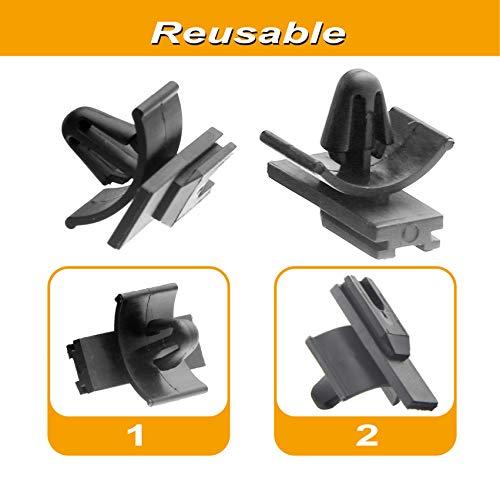 MUYI 25pcs Car Clips Bumper Push Rivet Clips Compatible with 1.5mm Series Wire Plug Connectors Automotive Clips