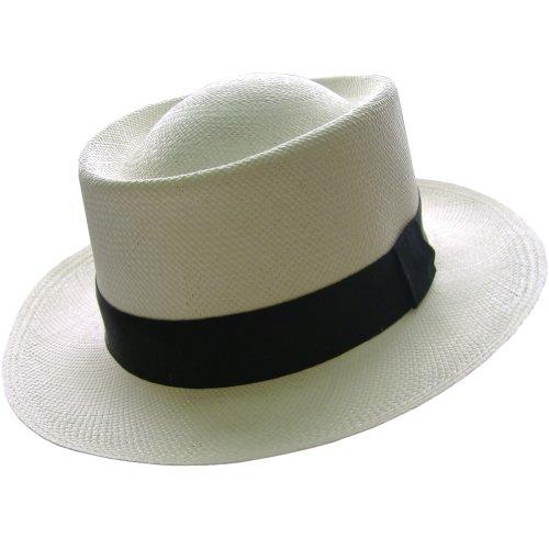Gamboa Genuine Unisex Panama Hat UPF 50 Gambler Straw Hat