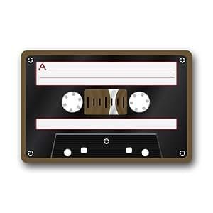 Felpudos personalizados Cassette cinta de música cubierta antideslizante máquina de interior al aire libre decoración de la cocina baño alfombra