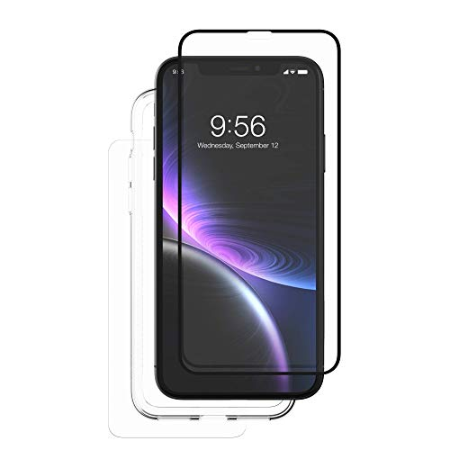 ZAGG InvisibleShield Glass+ 360 - Front + Back Screen Protection with Side Bumpers Made for Apple iPhone XR - Black, Clear by ZAGG (Image #2)