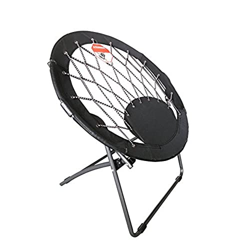 Pearington Sports Round Bungee Support Chair, Black