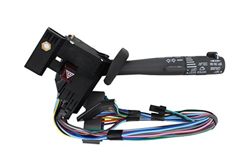 NewYall 2330814 Cruise Control Windshield Wiper Arm Turn Signal Lever Switch Hazard Multi-Function for Chevy GMC Truck Pickup Replaces 26100985 26036312 26083627 26091769 26097019 ()