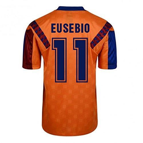 Score Draw Barcelona 1992 Away Shirt B01FJBR86I Medium Adults|Eusebio 11 Eusebio 11 Medium Adults