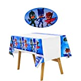 NB 2PC PJ Masks Themed Birthday Party Tablecloth