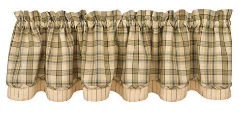 Park Designs Deer Croft Lined Lyre Valance, 72 x 16