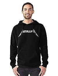 METALLICA Black & White Logo Mens Pullover Hoodie