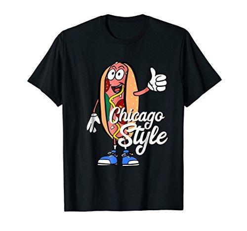 Chicago Style Hot Dog poppy seed bun shirt