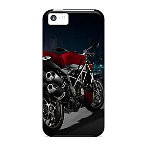JUP42074TSqh Snap On Cases Covers Skin For Iphone 5c(red Bike)