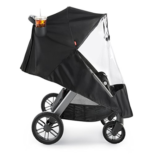 OXO Tot Cubby Plus Stroller, Heather Gray with Cup Holder...