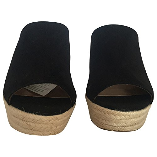Tamaria Pantolette - Zuecos de tela para mujer negro