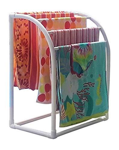 TowelMaid 5 Bar Curved Outdoor Towel Rack (Rack Spa Towel Outdoor)
