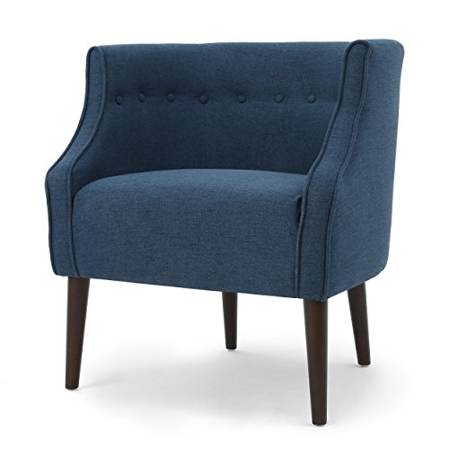 Davidson Tub Design Upholstered Accent Chair (Navy Blue)