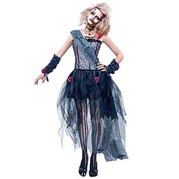 Partilandia Disfraz Zombie Reina del Baile para Mujer (S): Amazon ...