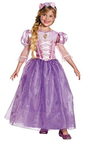Disney Princess Deluxe Womens Rapunzel Costumes (Rapunzel Disney Princess Deluxe Girl's Costume M (7-8))