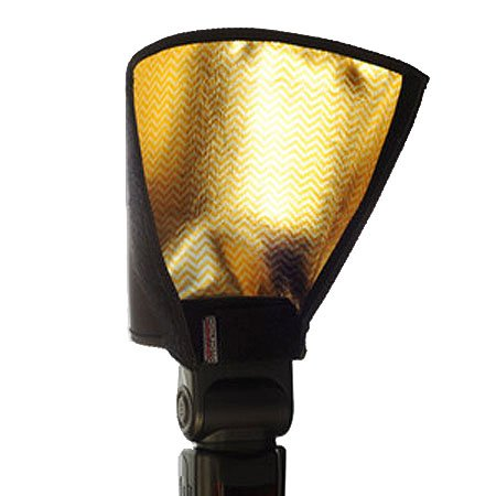 Honl Photo HONL-ZEBRA8 8-in Gold-Silver Reflector/Speed Snoot by Honl