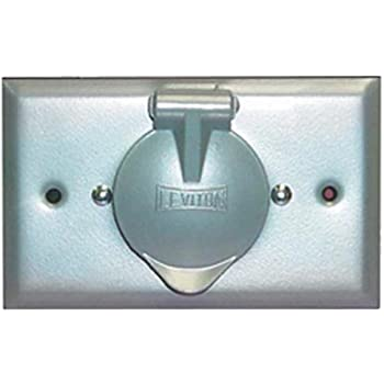 Leviton 4937 Weatherproof Inlet on Flush Mount Wallplate