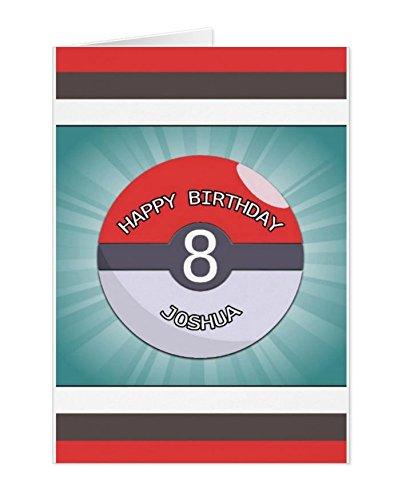 Pokemon Pokeball Personalised Birthday Card Amazon Kitchen