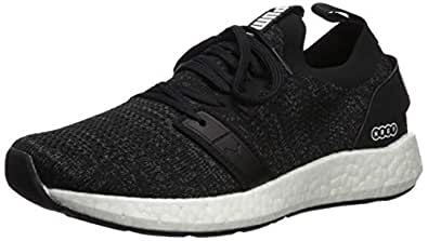 PUMA Women's NRGY Neko Engineer Knit Sneaker, Black Whit, 5.5 M US