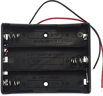 Portapilas, Malloom Cajas de almacenamiento de baterías de energía 18650 caja porta plomos con 1 2 3 4 ranuras (3 Slots): Amazon.es: Hogar