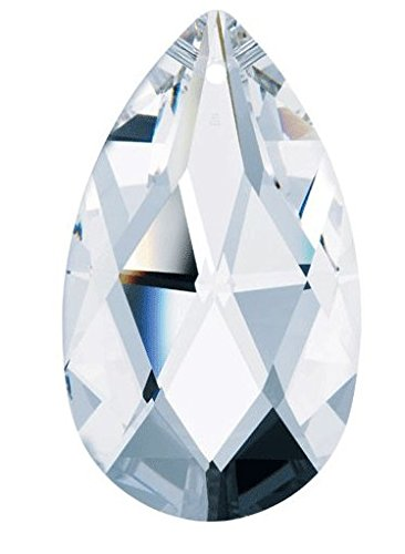 50 mm - Clear, Swarovski Crystal Chandelier Parts, Tear Drop #8721 Swarovski chandelier Parts, With Pin - Strass Chandelier Lamp Crystal