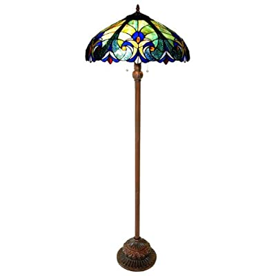 Chloe Lighting CH18780T-FL2 Light Victorian Floor Lamp