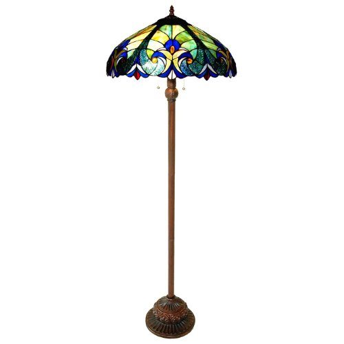 Amber Victorian Floor Lamp (Chloe Lighting CH18780T-FL2 Light Victorian Floor Lamp)